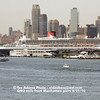 On May 21st 2010, Cunard's flagship Queen Mary 2 temporarily returned to berth at Manhattan's West Side piers for the first time since she began regular calls at the Brooklyn Cruise Terminal in Red Hook on April 15, 2006. Princess Cruises' Caribbean Princess damaged one of the two gangways while docking earlier in May.<br /> BY Ted Scull