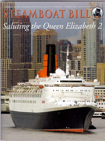 Tee's picture on the cover of the magazine that came out Feb 09. Look to see the people standing out below the bridge. That was my favorite sailing spot. QE2 was a great shooting platform, as well as a good target. I am very pleased to make the cover of a magazine I've been getting since the 70s.