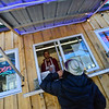 KRISTOPHER RADDER — BRATTLEBORO REFORMER<br /> Wani Yang orders soup from Jacob Cannizzaro at the Top of the Hill Stock Pot, on Putney Road, on Friday, Jan. 11, 2019.