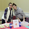Cupcake taste test volunteers Madelyn Hackler and Caitlain Kleeman from Townsend Ma<br /> SENTINEL&ENTERPRISE/Scott LaPrade