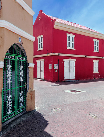 Alley in the Otrobanda District in Willemstad, Curacao.