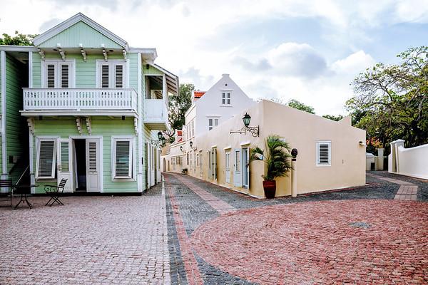 Buildings of the 'Kura Hulanda' area in Willemstad.