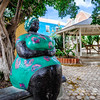 'Big Mama' sculpture by local artist Hortence Brouwn is located under a tree in Pietermaai District. The Big Mama sculptures have become a symbol of the matriarchal society of Curaçao, and you can find them in many sizes at many places on the island.
