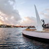 The Monument for the Fallen by Waaigat Bay in Willemstad. The monument was unveiled on May 4th 1957 with the names of 129 people from the former Netherlands Antilles who had died during World War II in concentration camps, such as Auschwitz and Dachau, on the Caribbean Sea and elsewhere.