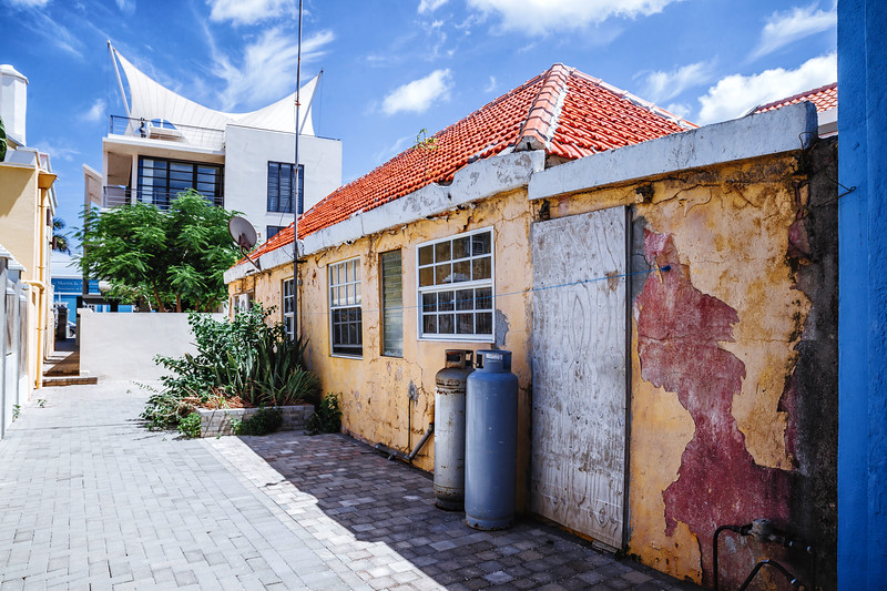 Houses in the Pietermaai District in the city of Willemstad in Curacao.