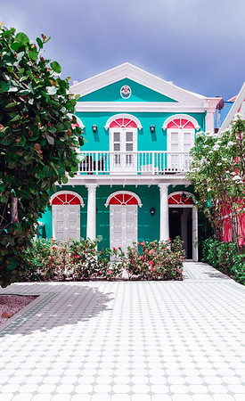 Beautifully restored house in the Pietermaai District in the city of Willemstad in Curacao.