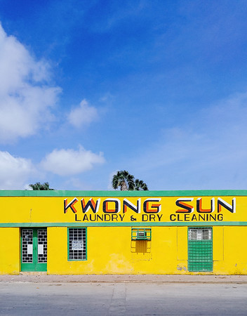 Brightly colored building in Pietermaai District, Willemstad.