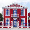 House in the Pietermaai District in the city of Willemstad in Curacao.