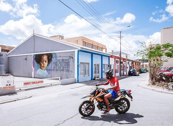 Art mural in Willemstad, Curacao.