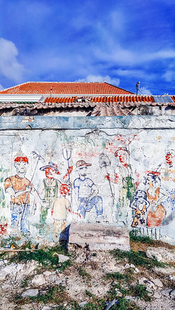 Graffiti in an alley of the Scharloo District in Willemstad, Curacao.