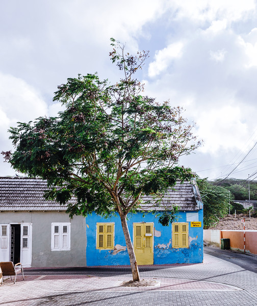 Little house in the Scharloo District in Willemstad, Curacao.