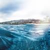 In the Caribbean Sea at Kleine Knip, a small beach in Curacao.