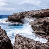 Caribbean Sea at the Boka Tabla at the Shete Boka National Park in Curacao.