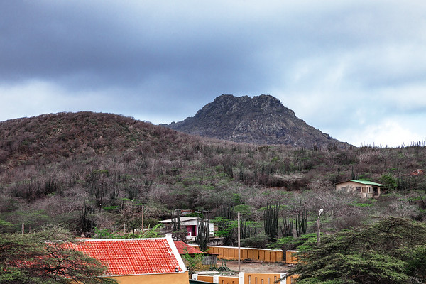 View on Mount Christoffel from the Savonet Museum Curaçao.
