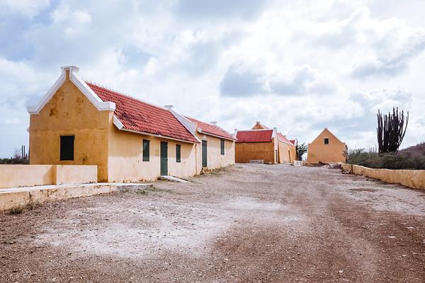 Buildings at the Landhuis Knip plantation, Cuaracao.