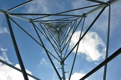 The antennae of Radio Hoyer at the  Tafelberg.