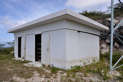 Building which houses Radio Hoyer's solar powered control room.