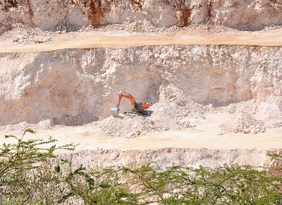 Busy mining rocks