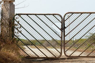 Gate to the radio antennaes of the Dutch Armed Forces
