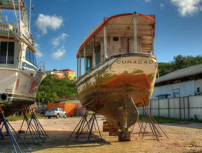 On stilts in the ship yard