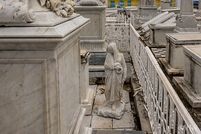 To the Left of the Temple path: Row TD (row 1) Between #11 and #12 (Isaac Baiz and Rachel Baiz) statue of a woman standing on the ground