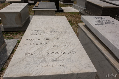 Ashkenazi side: Row EE.  First Row: #11. Marieta Lacs.     Needs repair. Of marble trim