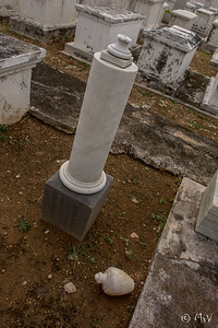 Row TA (Row 4) #31 MP Brandao.   Pillar monument, the vase from the top is on the ground to the right