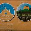 The Christoffel Park and Savonet logos.  <br /> Photo credit - Henkjan Kievit: SHAPE/DCNA
