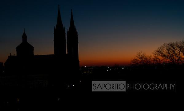 Basilica at Dawn - Mission Hill, Boston
