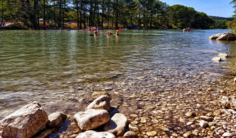 Swimming hole on the Frio