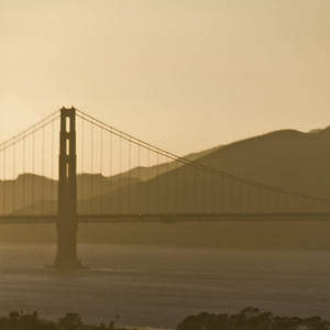 Golden Gate in sunset