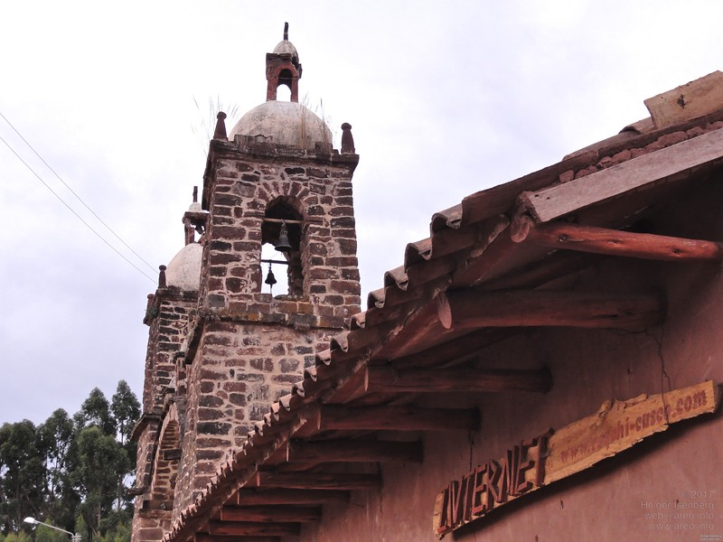 """""""Internet"""" church next to the Temple of Viracocha."""