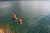 Adam Beals and I cliff jumping into Lake Atitlan in the Guatemalan Highlands, just outside of San Marcos la Laguna.  Adam´s butt was black and blue like someone had ¨sneezed a purple sloppy joe¨ all across his back side from the impact.  The highest jump we did was nearly 40ft high, some of the most exhilarating stuff ever.  Life!!!