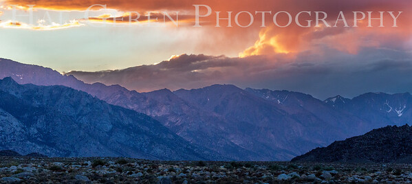 High Desert Sunrise  North of Mt Whitney 1907S-SNOMW2