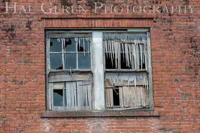 Abandoned factory window Loleta, California 1708C-LW1