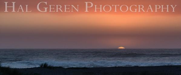 Gold Beach Sunset Prairie Creek Redwoods, California 1708C-S6