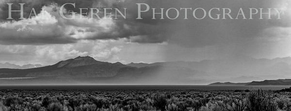 Rain Coming in over the Lake Eastern Sierra, California 1807S-RBW1