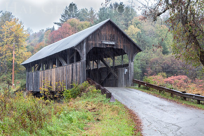 Covered Bridge in the Rain 1851 Coburn, Vermont 1910V-BCV1