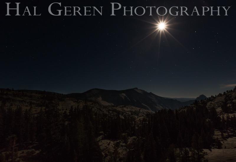 Moon over Olmstead Point<br /> Yosemite, California<br /> 1607Y-OM7