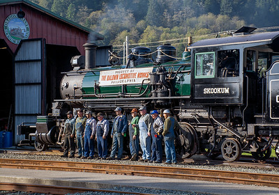 Some of the folks involved in the restoration of Skookum.