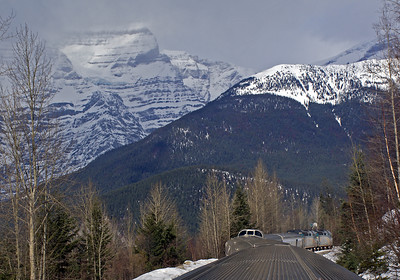 April 2018.  A gloriously clear spring day on the eastbound climb up to Yellowhead Pass and Jasper.
