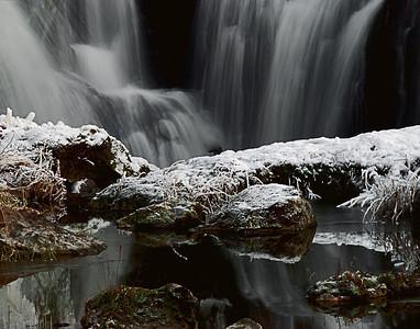 Tumwater (WA) Falls, in winter