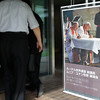 People arrive at St. Ignatius Catholic Church in Tokyo, Japan to listen to the Bishop Dr. Munib Younan speak about ecumenism and Lutheran-Catholic dialogue Monday afternoon 24 July, 2017. About 125 people attended the event. Photo by Ben Gray / ELCJHL