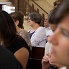 Visitors from the ELCA attend Hope Ramallah service on Sunday, September 3, 2017, where Byåsen Church of Trondheim Norway Partners with Hope Ramallah Church. Adrainne Gray/ELCJHL