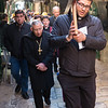 The Lutheran and Anglican churches join together on Good Friday to walk the Way of the Cross in Jerusalem. Photo by Ben Gray / ELCJHL