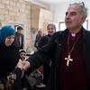 ELCJHL Bishop Ibrahim Azar visits the church's adult daycare facility in Jerusalem's Old City.  Ben Gray / ELCJHL