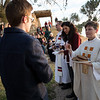 Redeemer English-speaking congregation celebrates Easter sunrise service on the Mount of Olives. photo by Ben Gray / ELCJHL