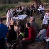 Redeemer English-speaking congregation celebrates Easter sunrise service on the Mount of Olives. photo by Ben Gray / ELCJHL