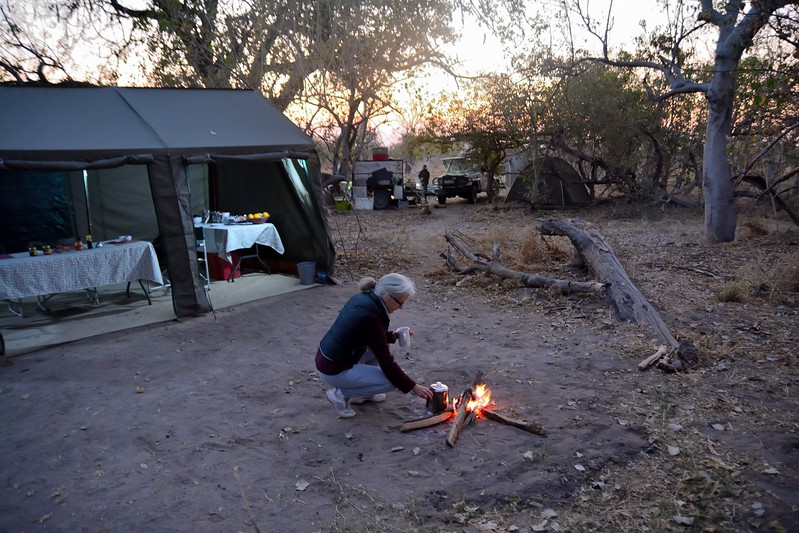 Moremi morning camp life 1