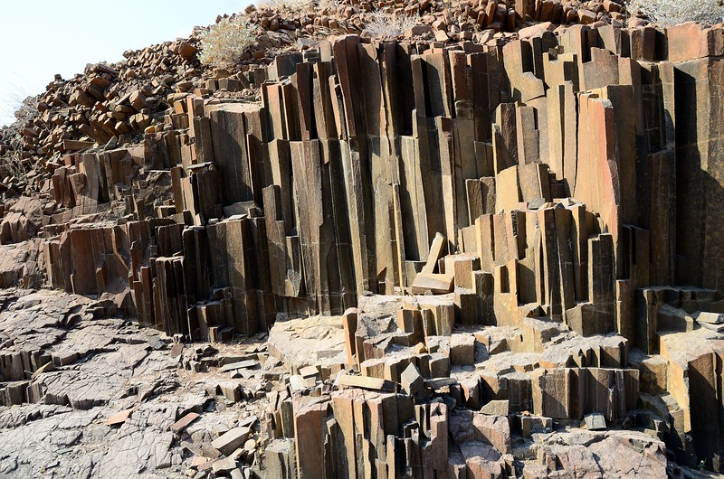 Organ Pipes Basalt Namib Desert 2